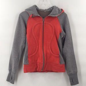 Lululemon Scuba Jacket Red Grey Hoodie Jacket 6